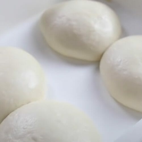 Pizza dough in container