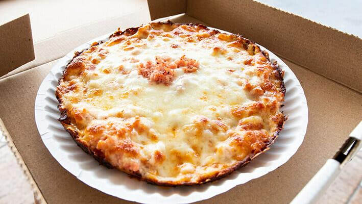 Miami / Cuban Pizza with a lot of mozzarella and gouda