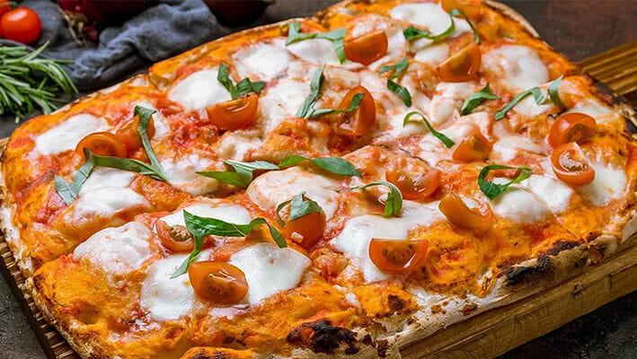 Roman Pizza, flatbread style