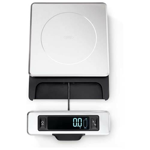OXO 11-Pound Stainless Steel Food Scale with Pull-Out Display