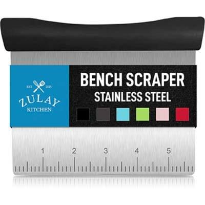 Zulay Kitchen Non-Stick Multi-Purpose Stainless Steel Bench Scraper and Chopper